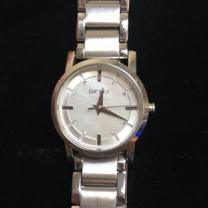 DKNY Three-Hand Stainless Steel Silver Watch